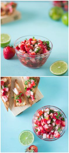 This easy and addictive strawberry salsa comes together in less than ten minutes, and is about to become your new favourite salsa! Perfect for summer togethers!