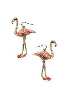 flamingo earrings-cheeky and fun for summer
