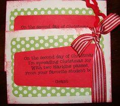 Fun rhyming 12 days of Christmas gift ideas – Teachers, Neighbors ...