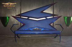 Blue Metal Couch by Dan Statler #vulturekulture