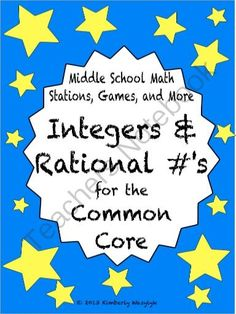 BUNDLE Integers and Rational Numbers Math Stations for Common Core Sixth Grade from The Math Station on TeachersNotebook.com (54 pages) - This is a GREAT bundle of middle school math games and activities. Including directions for you and your students, it is perfectly tailored for use in math station rotations.