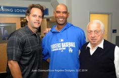 The Dodgers Winter Development camp is currently ongoing.  Check out a pic above of some instructors at Dodger Stadium who are there to lend their voice and experience to some of our best prospects - Eric Karros, Ramon Martinez and Tommy Lasorda.  Pic via Juan Ocampo/LA Dodgers 2014.