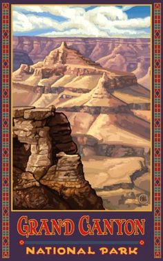 vintage grand canyon poster