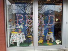 Spring window at Burke's Book Store, Memphis TN