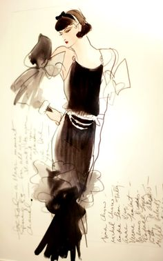 Coco Chanel  fabulous! Fashion illustration
