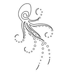 simple octopus drawing
