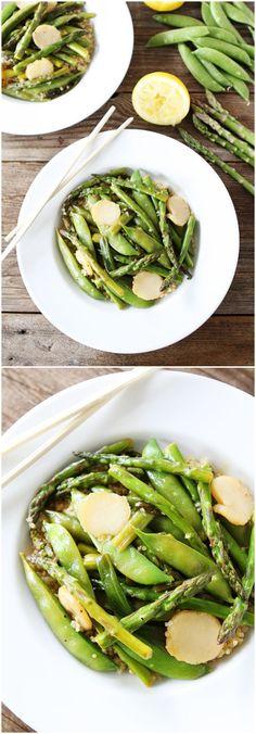 #Recipe: Spring #Vegetable Stir Fry with Lemon #Ginger Sauce
