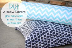 Quick and Easy DIY Pillow Covers by CrazyLittleProjects.com #pillows #throws