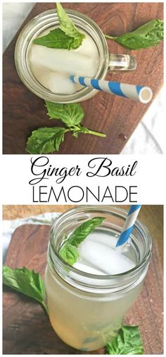 Ginger Basil Lemonad