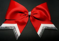 Customizable Texas Size Cheer Bow - single layer- tail trimmed