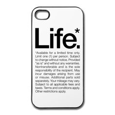 LIFE iPhone case pic on Design You Trust