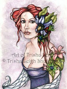 Finished!  Dangerous Beauties~Belladonna Nightshade Art of Trisha Leigh © Trisha Leigh Shufelt 2014
