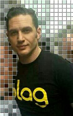 Tom Hardy blag shirt. The sideburns are epic. Can't get enough. ❤❤❤❤❤