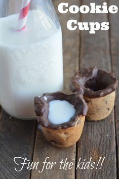 How to make cookie cups. Great #recipe for the #kids to enjoy! #cookies #chocolate