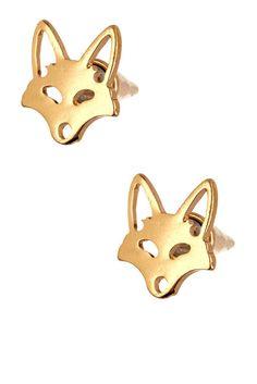Fox Cone Stud Earrings