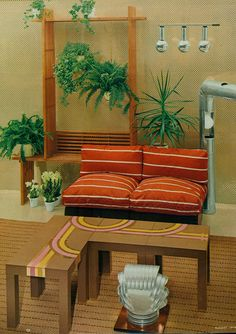 Living room design from Woman's Day, 1974.