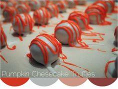 cheesecakes, cheesecak truffl, food, pumpkins, recip, yummi, pumpkin cheesecake, cheesecake truffles, dessert