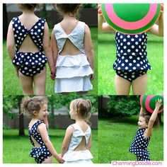 DIY Kid Clothes Refashion: DIY Bathing Suit Sewing Tutorial using Figgy's Scirocco Pattern