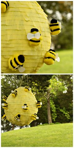HGTV Crafternoon: Beehive Piñata (http://blog.hgtv.com/design/2014/07/15/weekday-crafternoon-beehive-pinata/?soc=pinterest)