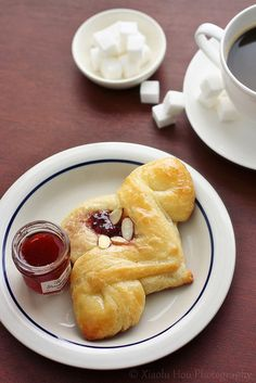 Pomegranate Cream Cheese Almond Danish Pastry by Xiaolu // 6 Bittersweets, via Flickr