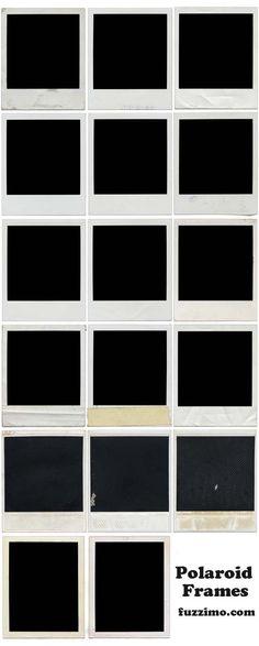 free download... polaroids uses for frames, craft, free download, polaroid ideas photoshop, polaroid frame, scrapbook, design, printabl, photographi