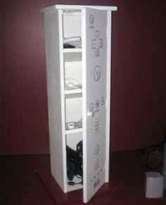 Wii storage cabinet