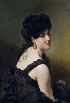 DOMENICO INDUNO 1815 - 1878  Ritratto della baronessa Summer
