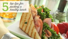 How to Pack a Healthy Lunch for Your Kids. #Lunch #LunchBox #SchoolLunch