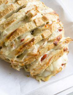 Cheesy Stuffed Sourdough Loaf