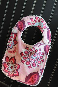 The Little Fabric Blog: Easy Baby Bib Tutorial