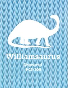 8 x10 Boy's Room Dinosaur Wall Name Decor Art by AniseSprout, $14.00
