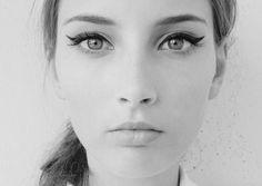 Winged eyeliner :)