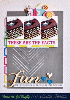 #papercraft #scrapbook #layout  Fun Type  by Sasha at @Studio_Calico