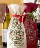 Holiday wine gift bags.