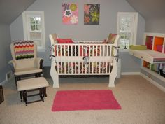 Look at that fun changing table