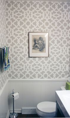 Grey & white bathroom (via Apartment Therapy)
