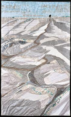 Sodium Salt Flat Quilt by JEANNIE PALMER MOORE: April 2014. SAQA's Radical Elements Exhibit