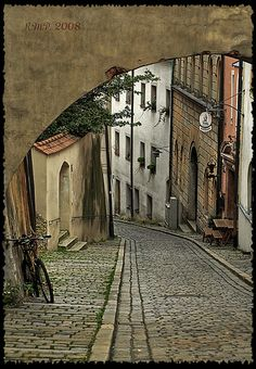 Old street of Passau old road