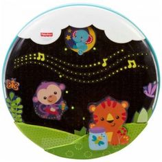 The Shooting Stars Glow Soother attaches to a baby's crib and offers three modes of music, motion, and lights to soothe baby to sleep.