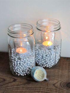 DIY Christmas Mason Jar Luminaries