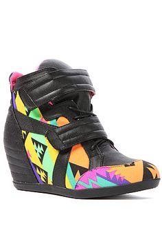 The Electric Sneaker in Black Multi