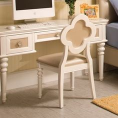 Najarian Furniture BDPARW Paris Desk & Chair Set