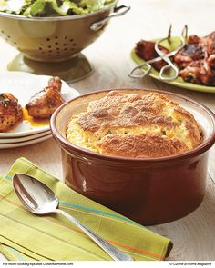 Cheesy Grits Soufflé | Cuisine at home eRecipes