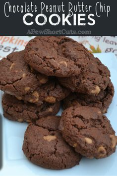 Chocolate Peanut Butter Chip Cookies! A great christmas cookie!