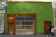 Cited as Brooklyn's first living wall, the Oulu attracts attention with its huge external living wall.