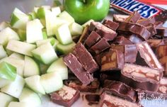 salad recipes, apple salad recipe, caramels, chop appl, fabuless frugal, salads, apple snicker salad, appl snicker, caramel apples