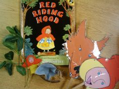 Creating RED RIDING HOOD props to help with retelling standards: K.RL.1, K.RL.2, K.RL.3 (key details, characters, setting and events)