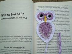 New Gift Handmade Crochet Pineapple Owl Bird Doily Bookmark