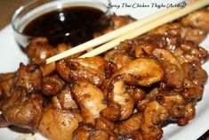 A tasty chicken recipe with an amazing dipping sauce.