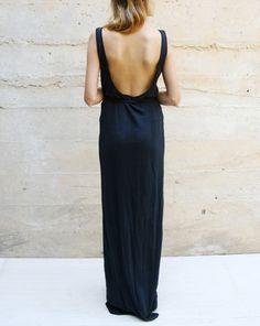 Black Low-back Dress